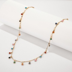 Colorful candy colored small ball choker choker necklace colours