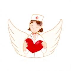 Little boy little girl Doctor Angel Care series brooch The nurse