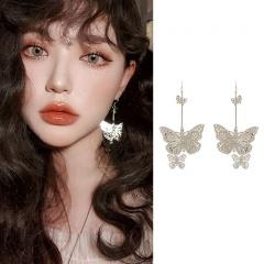 Hollow Butterfly Earrings Women Ear Drop Dangle Jewelry Gift Ear hook