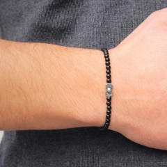 New Fashion Beaded Elastic Rope Chain Bracelet Male Charm Jewelry Gift Beads 4