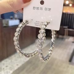 S925 silver needle round bright drill earrings earrings earrings ER20Y0170