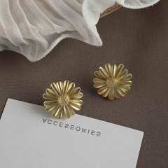 2020 New Retro Gold Color Statement Earrings For Women Multiple Trendy Round Geometric Stud Earrings Fashion Party Jewelry Gifts Irregular earrings-9