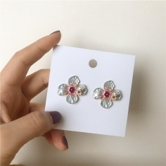 Fashion Lovely Bee Sun Flower Enamel Stud Earrings Ear For Women Girl Kids Pendientes Animal Jewelry Brincos flower earrings