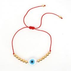 Fashion Evil Eyes Handmade Adjustable Rope Bracelet blue white
