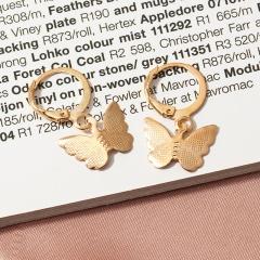 Alloy Butterfly Earrings Simple Fashion Eardrop gold
