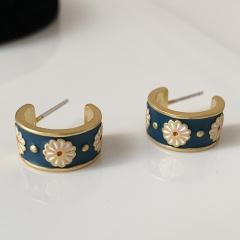 Flower Daisy Enamel Stud Drop Earrings Daisy 1