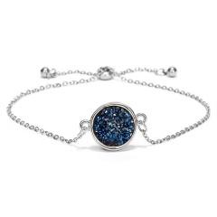 Boutique Trendy Colorful Crystal Pendant Lady Yong Girl Adjustable Bracelet # 4