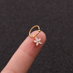 Gold Plated Crystal0 Earrings Nose Rings For Women Star