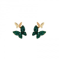 Fashion Colorful Crystal Earring Studs For Women #1