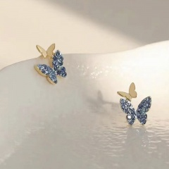 Fashion Colorful Crystal Earring Studs For Women #2
