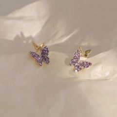 Fashion Colorful Crystal Earring Studs For Women #3