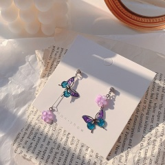 Fashion Colorful Butterfly Pendant Earring For Women #1