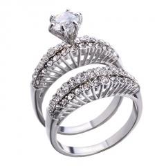 Fashion Shinny Crystal Zircon Copper Lady Rings For Women 2
