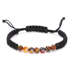 Glazed Braid Bracelet Color - black rope