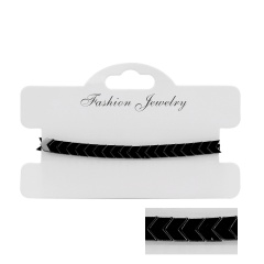Hand-woven Black Gallstone Adjustable Bracelet Coarse arrow
