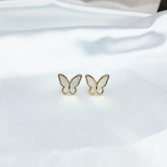Butterfly wing ear stud earrings Ear stud