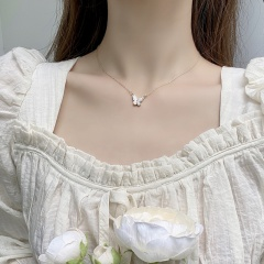 Butterfly choker clavicle chain necklace Butterfly