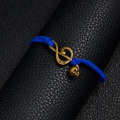 Handmade notes skull head woven paper card Bracelet BR20Y0054-4