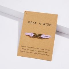 Hand woven 8-character paper card Bracelet / Friendship Bracelet BR20Y0055-3