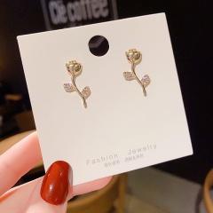 Elegant Flower Imitation pearl Stud Earrings for Women Girl Jewelry Gift Stlye 2