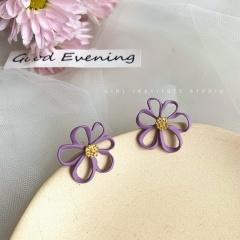 Eight Kinds Of Purple Flower Earrings 331