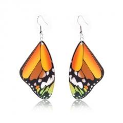 Fashion Butterfly Earrings Yellow