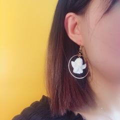 Cupid Asymmetrical Ear Hook Earringse Style 1