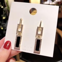 Fashion Crystal Pearl Heart Women Earrings 3