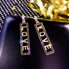 Fashion Crystal Love Long Tassel Earrings ER20Y0409