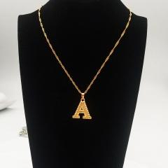 English letter pendant necklace A