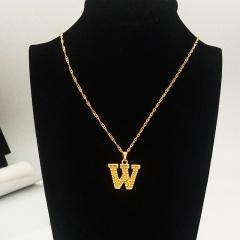 English letter pendant necklace W
