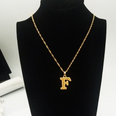 English letter pendant necklace F
