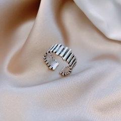 Retro Plain Ring With Adjustable Opening Big