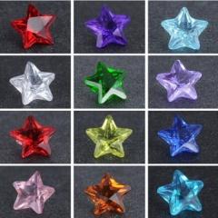 100pcs Heart Mix-Color Crystal Locket Accessories Star