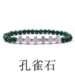 Cross Man Bracelet Malachite