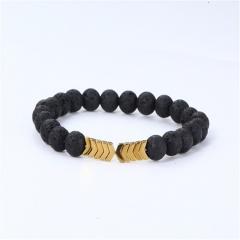 Lava Magnet Energy Bracelet String Golden