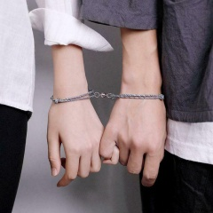 Two sets of hand-woven adjustable bracelet by Haishanmeng lovers Couples