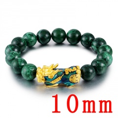 PI xiu elastic bracelet chain of jade discoloring 10mm