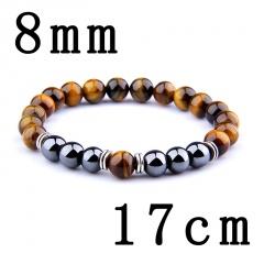 Male tiger eye obsidian hematite elastic bracelet bracelet string 17cm