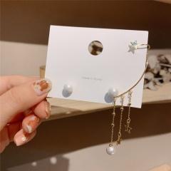 Pearl adjustable tassel ear clip Pearl