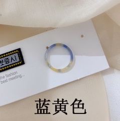 Acetic acid plate ring Blue-yellow