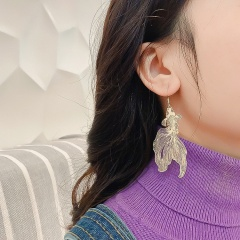 Hollow-out Good Luck Koi And Goldfish Hook Earrings Goldfish