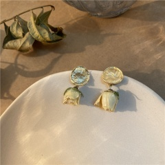 Eternal Roses True Floral Earrings And Earrings Yellow