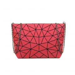 Geometric Ringer Chain Women's Bag Shoulder Bag Crossbody Bag 28*18*7.5cm The red triangle