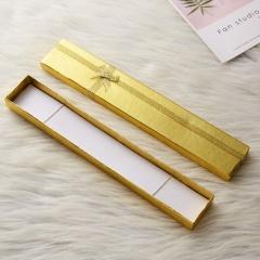 Fashion Women Men Pendant Display Case Packing Gift Box For Necklace Bracelet Gold