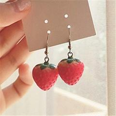 Strawberry Simulation Stereo Cute Earrings Ear hook