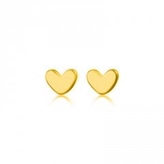 Heart Small S925 Simple Stud Earrings Wholesale Gold