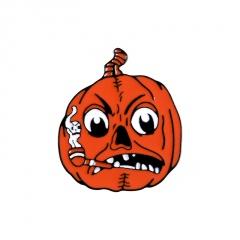 Halloween Series Dripping Small Brooch Pumpkin