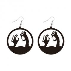 Resin Black Series Halloween Earrings A