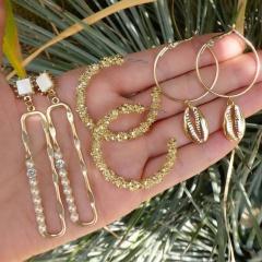 3 Pairs/Set Beach Series Golden Shell Bohemian Earrings ER20Y0582-4